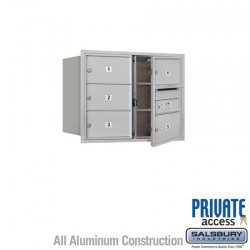 "Salsbury 4C Horizontal Mailbox Unit (23-1/2"") - Double Column - 5 MB2 Doors"