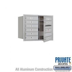 "Salsbury 4C Horizontal Mailbox Unit (23-1/2"") - Double Column - 9 MB1 Doors"