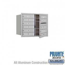 "Salsbury 4C Horizontal Mailbox Unit (23-1/2"") - Double Column - 10 MB1 Doors"