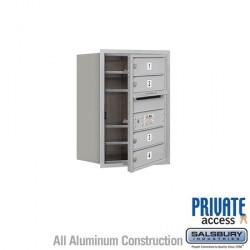 "Salsbury 4C Horizontal Mailbox Unit (23-1/2"") - Single Column - 4 MB1 Doors"