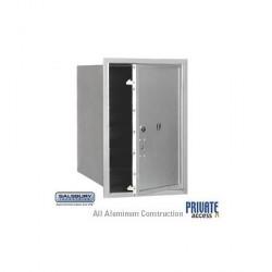 "Salsbury 4C Horizontal Mailbox Unit (23-1/2"") - Single Column - Stand-Alone Parcel Locker"