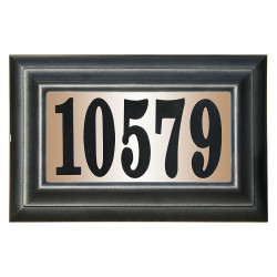"QualArc LTP-1304 Edgwood Classic ""Do it Yourself Kit"" Polymer Frame Lighted Address Plaque"