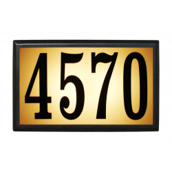 QualArc LT6B-1310 Bayside Estate Aluminum Lighted Address Plaque