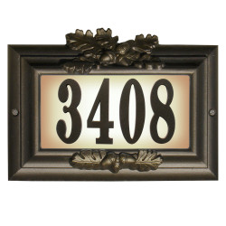 QualArc CMIST-1309 Edgewood Misty Oak Cast Aluminum Plaque