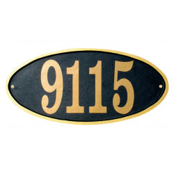 QualArc CLAR-OVL Claremont Oval Cast Aluminum Address Plaque