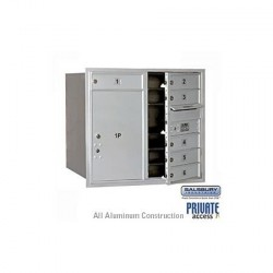 "Salsbury 4C Horizontal Mailbox Unit (27"") - Double Column - 2 MB2 Doors / 1 MB3 Door / 1 PL5"