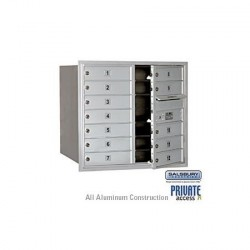 "Salsbury 4C Horizontal Mailbox Unit (27"") - Double Column - 12 MB1 Doors"