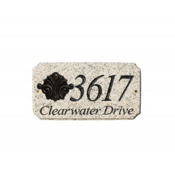 QualArc EXE-4702-AL StoneMetal Plaque in Autumn Leaf Natural with Black Gold Antiquing Logo