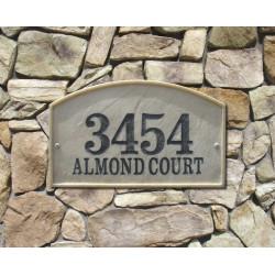 QualArc RIV-4602 Riviera Arch Crushed Stone Address Plaque