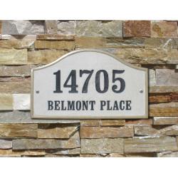 QualArc VER-4603 Verona Serpentine Crushed Stone Address Plaque