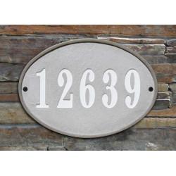 QualArc OAK-4605 Oakfield Oval Crushed Stone Address Plaque