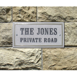 QualArc CHS-4601 Chesterfield Rectangle Crushed Stone Address Plaque