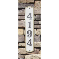 QualArc KNO-4619 Knoll Brook Vertical Crushed Stone Address Plaque
