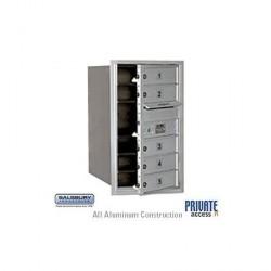 "Salsbury 4C Horizontal Mailbox Unit (27"") - Single Column - 5 MB1 Doors"