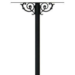QualArc HPWS4 Hanford Quad Post System with Scroll Support and Mailbox Option in Black