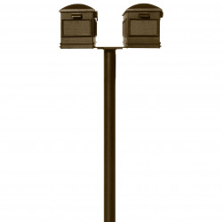 QualArc HPNS2 Hanford Twin Post System with Lewiston Mailboxes and Bronze Finish
