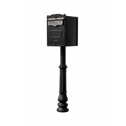 QualArc LSF-LS Lettasafe Kingsbury Rear or Front Retrieval Mailbox with Hanford Post