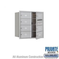 "Salsbury 4C Horizontal Mailbox Unit (30-1/2"") - Double Column - 7 MB2 Doors"