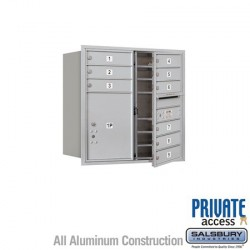 "Salsbury 4C Horizontal Mailbox Unit (30-1/2"") - Double Column - 9 MB1 Doors / 1 PL5"