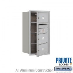 "Salsbury 4C Horizontal Mailbox Unit (30-1/2"") - Single Column - 3 MB2 Doors"