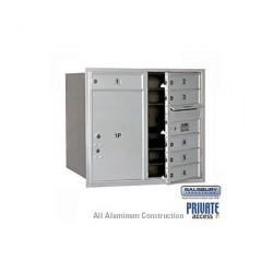 "Salsbury 4C Horizontal Mailbox Unit (30-1/2"") - Single Column - 6 MB1 Doors"