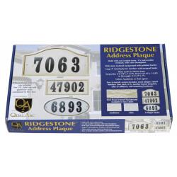 "QualArc RIG Ridgestone Crushed Stone ""Do it yourself kit"" Address Plaque"