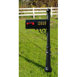 QualArc LPST Lewiston Post with Support Bracket, E1 Economy Mailbox and Locking Insert Option