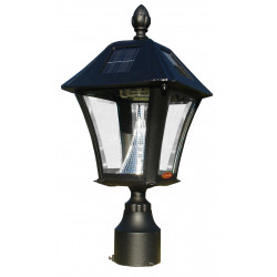QualArc LPST Lewiston Mailbox Post ONLY with Support Bracket and Bayview Solar Lamp