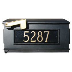 QualArc LM3P Lewiston Mailbox ONLY with 3 Cast Aluminum Address Plates