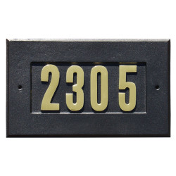 "QualArc ADD-1410 Manchester Address Plate with 3"" Gold Brass Numbers (Numbers Included)"