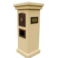 QualArc MAN-STUCOL Manchester NON-LOCKING Stucco Column Mailbox