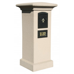 QualArc MAN-S-STUCOL Manchester SECURITY LOCKING Stucco Column Mailbox