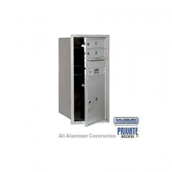 "Salsbury 4C Horizontal Mailbox Unit (34"") - Single Column - 2 MB1 Doors / 1 PL5"