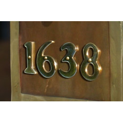 "QualArc BRASS-RV2 2"" Gold Polished Brass Riveted Numbers"