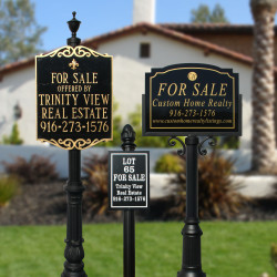 QualArc RCVRE Richvale Real Estate Sign System with Base and Finial Options