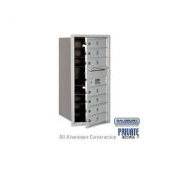 "Salsbury 4C Horizontal Mailbox Unit (34"") - Single Column - 7 MB1 Doors"
