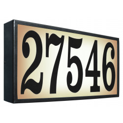 QualArc SRXL-AB13 (Xtra-Large) Lighted Address Plaque