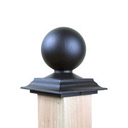 QualArc FIN Cast Aluminum Square Post Topper Finials