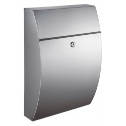 QualArc WF-0906A Winfield Glacial Locking Mailbox, Stainless Steel