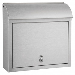 QualArc WF-L33SL Winfield Compton Locking Mailbox, Stainless Steel
