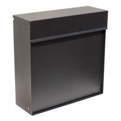QualArc WF-P015 Winfield Covina Locking Mailbox, Black Color