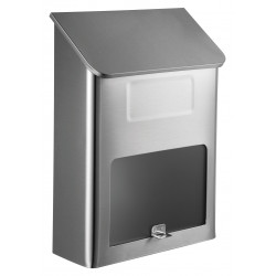 QualArc WF-L002 Winfield Metros Mailbox, Stainless Steel with Window