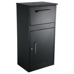 QualArc WF-PB Winfield PacelDefender, Parcel Sentry Locking Parcel Mailbox, Black