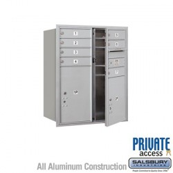 "Salsbury 4C Horizontal Mailbox Unit (37-1/2"") - Double Column - 7 MB1 Doors / 1 PL5 and 1 PL6"