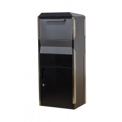 QualArc WF-WPB014BKST Winfield Parcel Box in Black with Stainless Steel