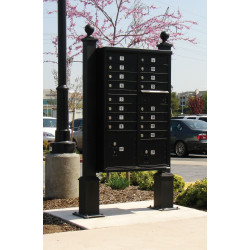 QualArc WDPST Westhaven Decorative CBU Square Posts with Square Base