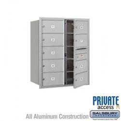 "Salsbury 4C Horizontal Mailbox Unit (37-1/2"") - Double Column - 9 MB2 Doors"