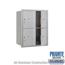 "Salsbury 4C Horizontal Mailbox Unit (37-1/2"") - Double Column - Stand-Alone Parcel Locker - 4 PL5's"
