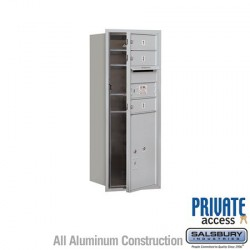 "Salsbury 4C Horizontal Mailbox Unit (37-1/2"") - Single Column - 3 MB1 Doors / 1 PL5"