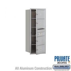 "Salsbury 4C Horizontal Mailbox Unit (37-1/2"") - Single Column - 4 MB2 Doors"